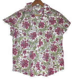 Talbots Button Up Collard Shirt